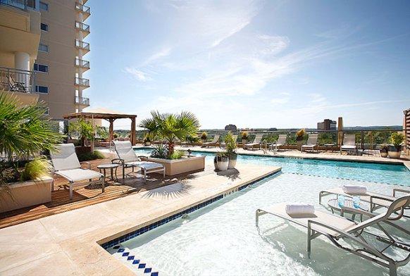 Shore condos pool area
