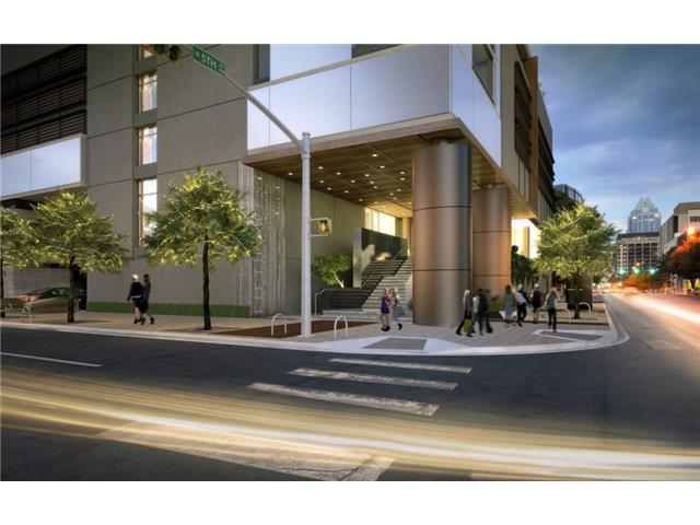 Main entrance rendering, corner of 5th St and West Ave.
