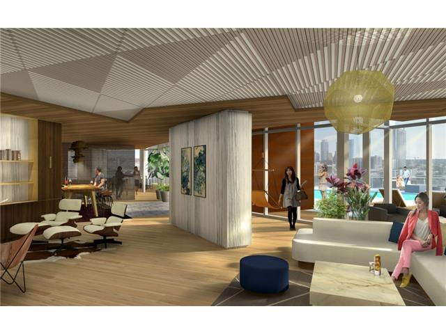 Rendering of 6th floor lounge area. The 6th floor is reserved fo