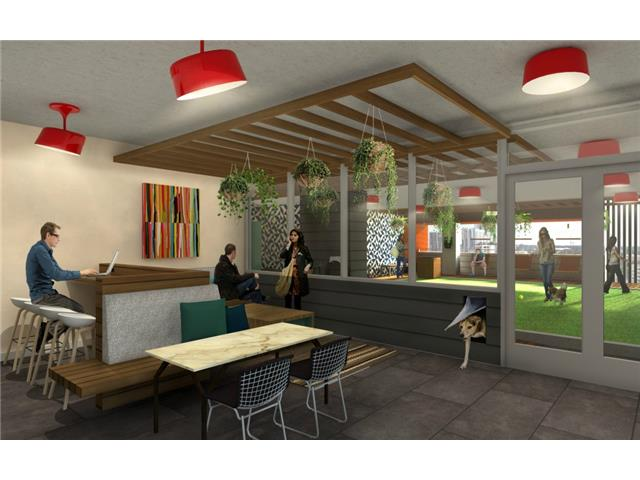 Rendering of 5th floor air conditioned owners lounge and coffee