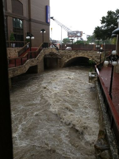 Waller creek at Cesar Chavez