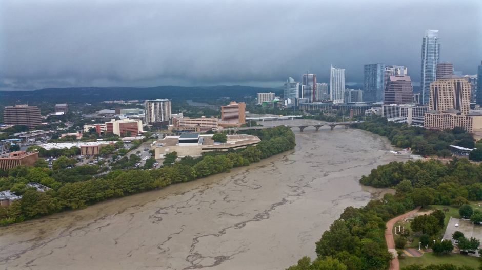 Downtown Austin flooding October 2015